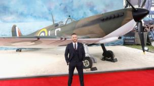 Tom Hardy with a spitfire
