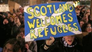 Glasgow, protes, Inggris, Trump