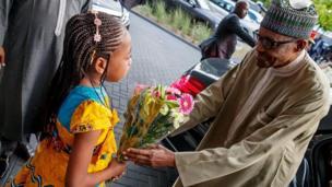 Shugaba Muhammadu Buhari a Netherlands
