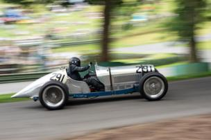 A competitor hurls their vintage car uphill during last August's Vintage Sports Car Club meeting at Prescott Hill Climb near Cheltenham, Gloucestershire.