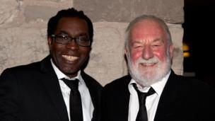 Artistic Director Dallas International Film Festival. James Faust and British acting legend Bernard Hill, pictured at the after show party, are both serving as jurors at this year's festival.