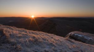 Sunrise at Pen y Fan in the Brecon Beacons