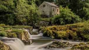 Cenarth falls and mill on the Carmarthenshire/Ceredigion border