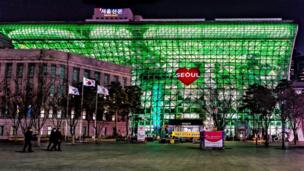 City Hall in Seoul, South Korea, was a beacon of green