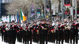 A parade through Dublin followed the commemorations at the GPO