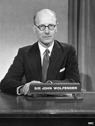Sir John Wolfenden in 1957