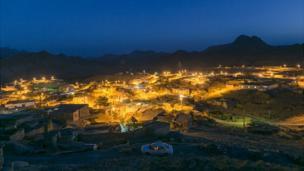 Ночная панорама деревни