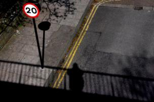 Shadow from a bridge