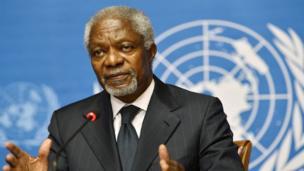En 2001, l'ONU reçoit le prix Nobel de la paix, et avec elle son secrétaire général de l'époque, le Ghanéen Kofi Annan.