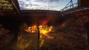 Coldplay's concert at the Principality Stadium
