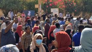 مظاهرة معارضة للبشير في السودان