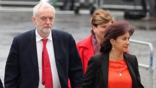 Jeremy Corbyn, his wife Laura Alvarez
