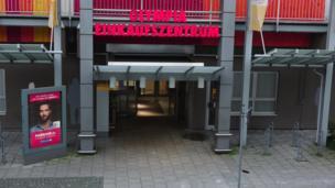 Entrance to the shopping centre