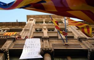 Barcelona'da protestolar