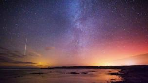Geminid meteor shower as viewed over Anglesey