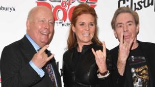 Julian Fellowes, Sarah Ferguson, Duchess of York and Andrew Lloyd Webber