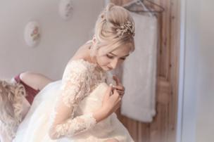 Una novia el día de su boda.