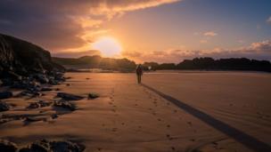 Sunrise on Llanddwyn Beach, Anglesey