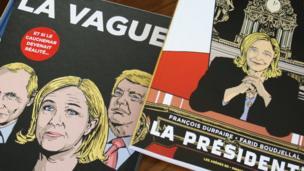 Ceci est une fiction où les conséquences politiques et sociales de l'accession au pouvoir de la présidente du FN sont envisagées.