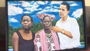 Picha ya Obama akiwa na bibi yake pamoja na dadake