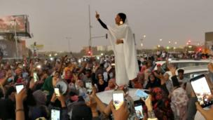 Student Alaa Salah, 22, was nicknamed The Nubian Queen after a video of her leading chants against former Sudanese President Omar al-Bashir went viral in April.