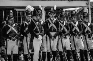 Men in uniform on 4 July