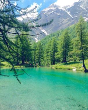 На озере в Альпах побывала @spasibopriviet