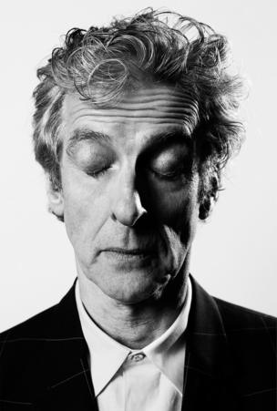 Peter Capaldi with his eyes shut
