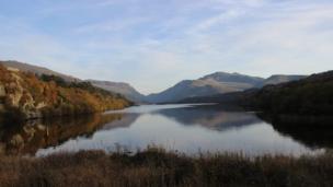 Autumnal scenes over Llyn Padarn and Snowdon, taken by Rhiannon Mair