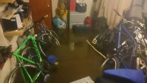 Flooded store room