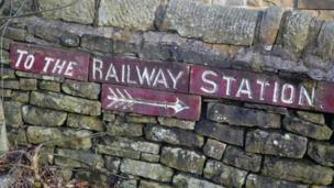 in_pictures Railway sign