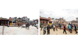 """The famous square in front of the residence of """"living Goddess"""" in Kathmandu."""