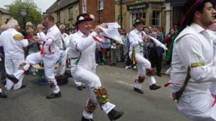 Morris dancers and rappers at Bampton.