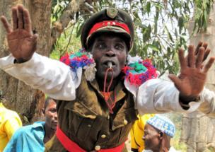 Man dancing in Malawi