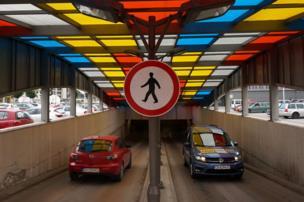 Techo de colores en Sofia