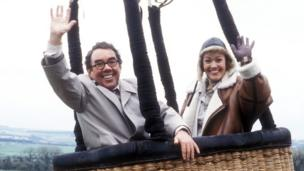 Corbett's character Timothy did finally break away from his parents, at the age of 48, flying off with his love Pippa, played by Bridget Price, in a hot air balloon