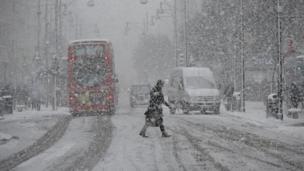 Snow in Oxford Street
