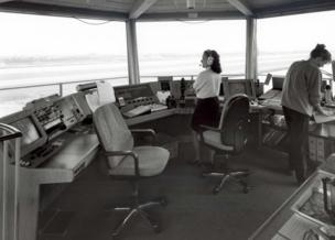 Inside the air traffic control tower at London City Airport