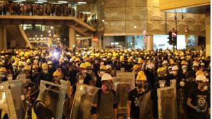 香港示威抗议