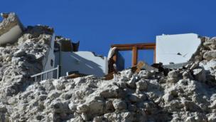 Amatrice, Italy, earthquake