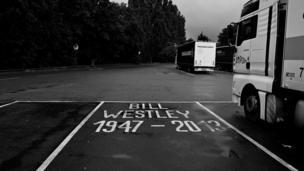 Bill Westley memorial on M4