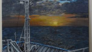 Highly commended - Nearly Not Dusk by Jennifer Stanford, department of geography