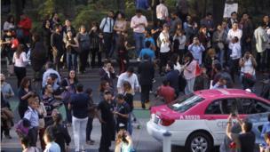 Personas en las calles de Ciudad de México