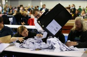 عمليات فرز الأصوات في الانتخابات العامة البريطانية