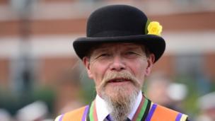 An Orangeman in bowler hat