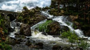 Waterfalls in Ogwen Valley, Gwynedd