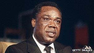 Central African Republic's former president David Dacko