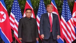 Le leader nord-coréen Kim Jong-Un et le président américain Donald Trump.