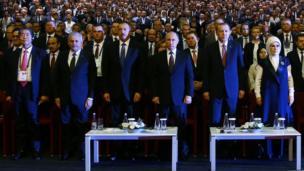 Binali Yıldırım, İlham Əliyev, Vladimir Putin, Recep Tayyip Erdoğan