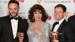 Ant and Dec with Dame Joan Collins